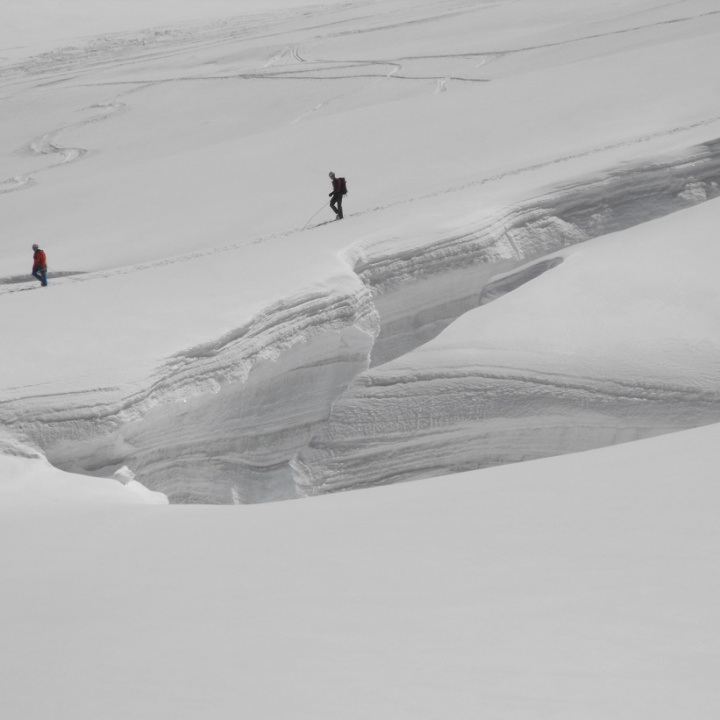 Cordata su ghiacciaio